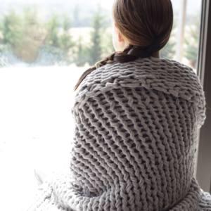 Plaid Knit handmade