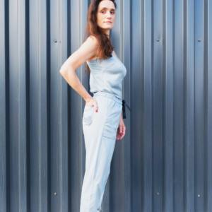 ADELA - Silk & Organic Cotton Trousers