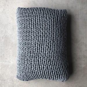 Decorative cushion Knit handmade